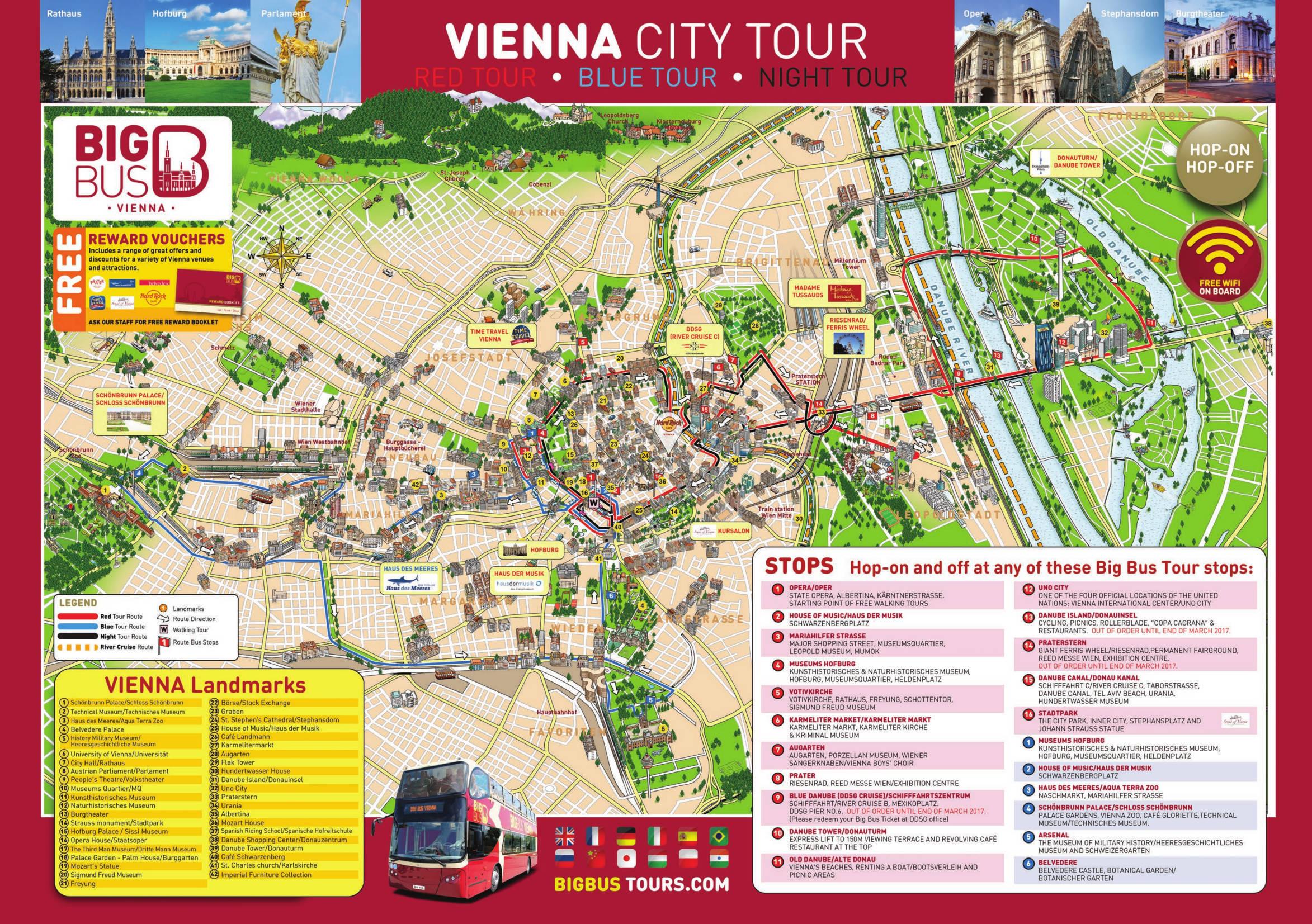 Big Bus Wien Haltestellen