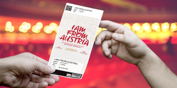 I Am From Austria, Design Ticket © WIEN-TICKET