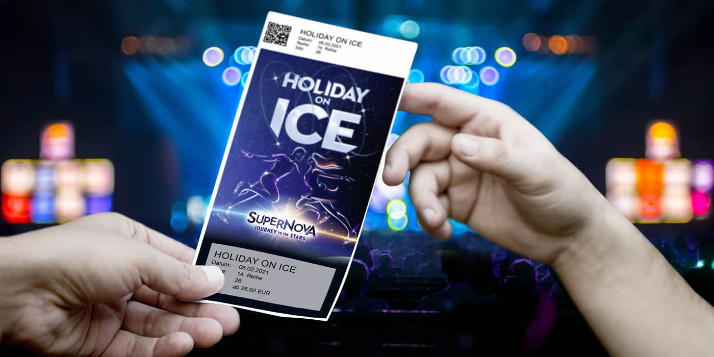 Holiday on Ice, Showtime - Design Ticket ©WIEN-TICKET